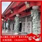 寺庙青石龙柱雕刻 仿石石雕龙柱