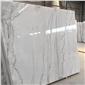 广西白大理石 白色线条 白色大理石板 天然大理石可定制,厂家直销