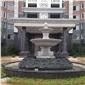 山門牌坊涼亭噴泉石雕,石雕噴泉,噴泉