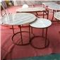 大理石台面板 大理石餐�e桌
