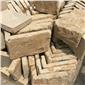 黃底石灰石墻拐角石材成品
