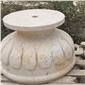 黄姜石成品花钵手加工艺品