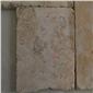 石灰石古典米黄皮革面干挂石地铺石专业做出口