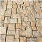 古典米黄自然面墙体石 地铺石专业你可不要�y跑出口石灰石
