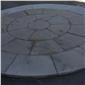 罗曼米黄 莱姆石圆�r候形拼园林装饰地铺石