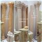 A级桔子玉石雕刻罗马柱