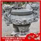 石雕香炉 青石香炉 祭祀专用圆香炉