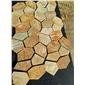网贴冰裂纹河北文化石,黄木纹文化石,黄色文化石,锈色文化石