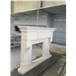 F-138出口美国白沙米黄壁炉�I 架White Travertine fireplace