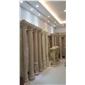 莎安娜米黃羅馬柱,白玉蘭圓柱,奧特曼石柱