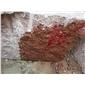 帝王红石材荒料批发映山红光泽红石材