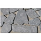 P018黑色板岩自然面滚磨乱形
