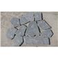 P018黑色板岩自然面滚磨乱形1
