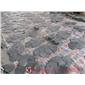 18黑色板岩网贴冰裂纹试铺