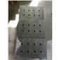 大鴻石業小鐵灰石材/珍珠灰石材鉆孔水溝蓋