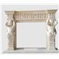米黄大理石人像雕刻欧式古典壁炉