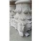 純手工雕刻石材羅馬柱帽