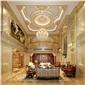 豪華別墅室內大理石壁爐,羅馬柱,水刀拼花