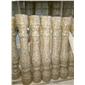 黄锈石花瓶柱