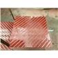 中國紅斜拉槽、紫檀木紋