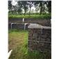 火山岩自然石钢丝网堆墙