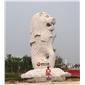 供应大型景观石雕鱼尾狮雕塑