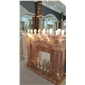F-007桔子玉雕刻壁炉YELLOW ONYX fireplace mantel
