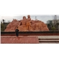 中国红人物雕刻