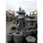 雕刻塔、圆水缸