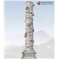 園林廣場大型石雕龍柱