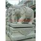 石雕大象 白麻大象 招财大象 石象定制 石象批发