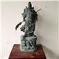 花崗巖石材關公擺件雕刻公司招財神像