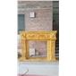 土豪金大理石壁炉欧式壁炉手工雕刻壁炉架marble fireplace mantel