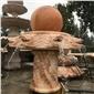 大理石石雕喷泉水系 水景石雕风水球喷泉流水摆件