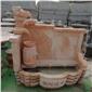 供应石雕水池 大理石石雕景观组合盆循环流水摆件