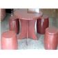 荥经红石凳石桌