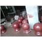 中国红挡车球、荥经红圆柱