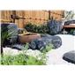 黑山石日式枯山水庭院