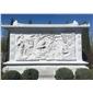 佛文化石浮雕照壁墻