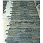 青石板文化石組合價格碎拼文化石廠家黑色板巖