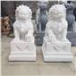動物雕塑對石獅