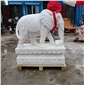 动物雕塑门前大象