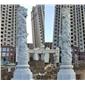 景觀石雕龍鳳雙柱