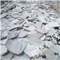乱型石厂家 板岩碎拼路面 冰裂纹碎拼青石板 深灰色碎拼石