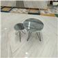 大理石灰色茶几桌面