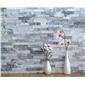 灰色石材外墙干挂石英灰石英蘑菇石