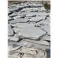 毛石切片价格厂家直销天然文化石 黄木纹板岩碎拼片