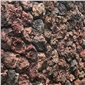 红色火山石 褐色火山石 火山石蘑菇石 云南浮石