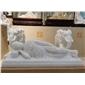 汉白玉石雕卧佛像