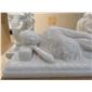 汉白玉佛雕像